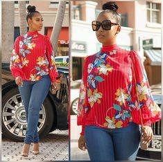 2da91b61a21d40 African Tops, African Wear, African Fashion, Ankara Peplum Tops, Ankara  Styles,
