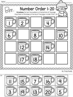 Winter Activities: Numbers 1-20 (Winter Math for Kindergarten)