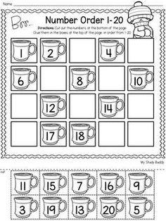 Winter activities: numbers (winter mathematics for kindergarten) - . - Winter activities: numbers (winter math for kindergarten) – # Wint - Kindergarten Math Activities, Numbers Kindergarten, Kindergarten Math Worksheets, Math Literacy, Math Numbers, Preschool Math, Winter Activities, Teen Numbers, Teaching Numbers