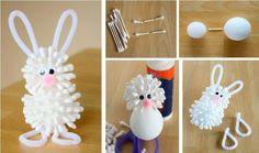 DIY Q-tip Bunny