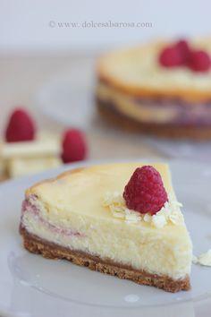 Cheese cake ai lamponi e cioccolato bianco