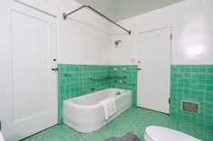 Built by developer Frank E. Bundy, it's looking for its second owner. Craftsman Bathroom, Pacific Palisades, Spanish Colonial, Corner Bathtub, 1920s, Building, House, Patterns, Block Prints