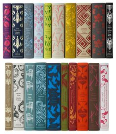 Penguin Classics Clothbound Hardback Spines by Coralie Bickford-Smith