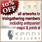 Off alll Artworks for IrishGathering Members including antiquarian maps and prints at Kenny Gallery Sidney Nolan, Irish Art, 10 Off, Family Crest, Sign I, Hand Coloring, Over The Years, Maps, Artworks