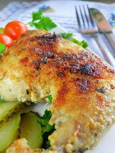 Sio-smutki: Udka pieczone w mleku z czosnkiem i pieprzem cayen... Yummy Treats, Recipies, Deserts, Turkey, Cooking Recipes, Meat, Food, Impreza, Bakken