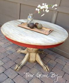 Antique Claw Foot Table by timegonebyfurnishing on Etsy,