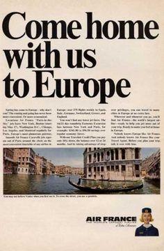 Air France Venice Gondola Stewardess (1965)
