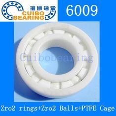 Full Ceramic ZrO2 6009 45*75*16mm Deep Groove Ball Bearing/Ceramic Ball Bearing #Affiliate