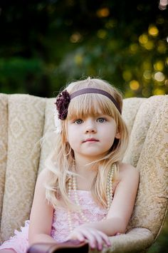 little girl, headband, lace,romper, pearls & photography