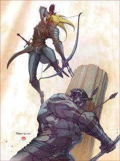 Legolas vs Azog by CoranKizerStone.deviantart.com on @deviantART