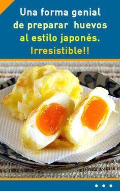Una forma genial de preparar huevos al estilo japonés. Irresistible!! #cocina #huevos #japonés #cena #receta