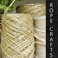 lots of rope craft ideas to use in home decor