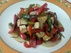 Tofu marinado con verduras a la plancha   Un Sueño Dulce