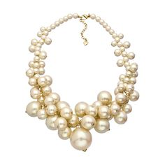 A Pearl Affair White and Gold Cluster Necklace ($95) ❤ liked on Polyvore featuring jewelry, necklaces, accessories, fashion jewelrynecklaces, white gold jewelry, pearl-cluster necklaces, pearl necklace, white necklaces and white gold necklace
