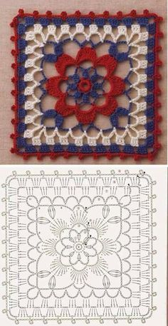 Transcendent Crochet a Solid Granny Square Ideas. Inconceivable Crochet a Solid Granny Square Ideas. Point Granny Au Crochet, Granny Square Crochet Pattern, Crochet Diagram, Crochet Chart, Crochet Squares, Love Crochet, Granny Squares, Crochet Flower, Crochet Motif Patterns