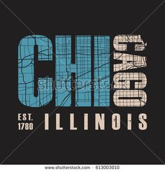 Chicago Illinois tee print. T-shirt design graphics stamp label typography. Vector illustration.