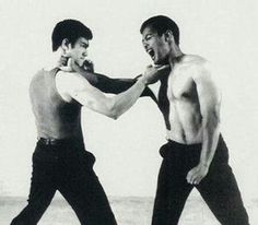 Bruce Lee and Dan Inosanto - what an awesome shot!
