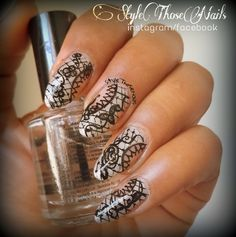 Style Those Nails: Mani Monday - Lace Nail Art