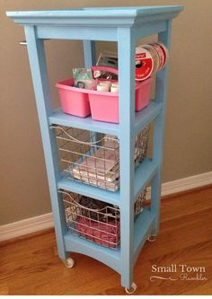 bathroom storage tower repurposed into a craft cart crafts organizing painted furniture repurposing upcycling storage ideas Bathroom Tower, Bathroom Storage, Barn Bathroom, Bathroom Cart, Bathroom Plants, Small Bathroom, Organizing Your Home, Home Organization, Organizing Tips