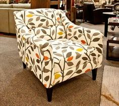 Max Home Accent Chair  Love the lines, need other colours though.