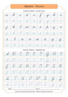 Cursive Writing Worksheets Pdf, Cursive Alphabet Printable, Cursive Handwriting Sheets, Cursive Writing Practice Sheets, Teaching Cursive Writing, Learning Cursive, Alphabet Worksheets, English Cursive Writing, Math Writing