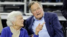 """Both President George H.W. Bush & former first lady Barbara Bush are now in a Houston hospital & will not attend Friday's inauguration of President-elect Donald Trump. The 92-year-old former president on Wednesday was moved to intensive care at Houston Methodist Hospital after being admitted on Saturday. """"Doctors performed a procedure to protect and clear his airway that required sedation. President Bush is stable & resting comfortably in the ICU, where he will remain for observation."""""""