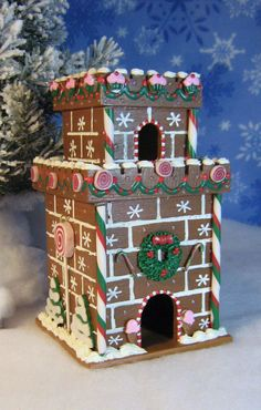 Wooden Gingerbread Castle by GingerbreadFaire on Etsy