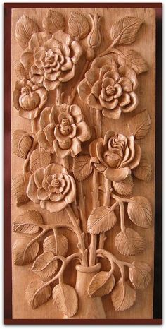 Wood Carving Designs Flowers Easy Patterns