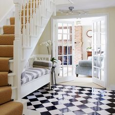 love the seat under the stairs