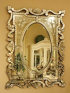 FONTAINEBLEU CUT GLASS MIRROR