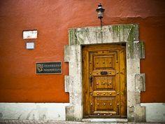Door Universidad Panamericana    This is one of the 15 doors at the Universidad Panamericana in Mixcoac (México City)
