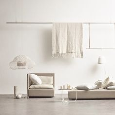 Our clothes rack in this fine dreamy beige interior i sheer perfection.  Clothes Racks: http://www.fermliving.com/webshop/shop.aspx?eComSearch=True&ID=14&eComQuery=clothes+rack  Photo Credit: Designstuff_group and Mikkel Rahr Mortensen