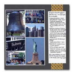 New York Collage Layout