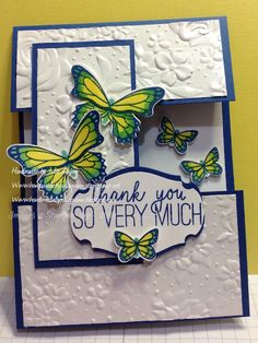 handmade by Julia Quinn - cardmaking and supplies: Colouring Challenge for SUO Challenges. Fun Fold Cards, Folded Cards, Acetate Cards, Cardmaking And Papercraft, Greeting Cards Handmade, Butterfly Cards Handmade, Stamping Up Cards, Pretty Cards, Homemade Cards