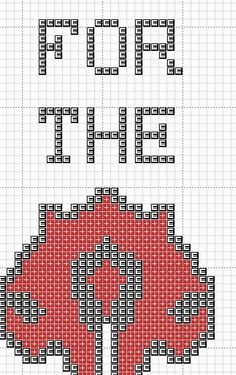 World of Warcraft For the Horde cross stitch by Crazyxstitch, £0.50:
