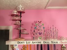 Just need to paint the base and it's finished. Homemade pageant crown display shelf.