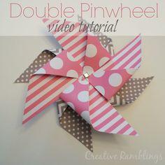 Double Paper Pinwheel Video Tutorial