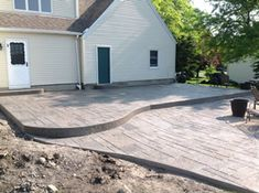 Real Help Custom Concrete Company of Buffalo and Western New York is local, licensed, and insured. View our stamped concrete gallery! Poured Concrete Patio, Concrete Pad, Stamped Concrete, Yard Landscaping, Backyard Patio, Basement Doors, Buffalo, Shed, Bob