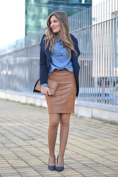 85744f782b Style up Your Leather Pencil Skirt Fashion - Fashions Fobia For Fashion  Lovers