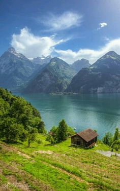 Lake Walensee, St. Galen Switzerland