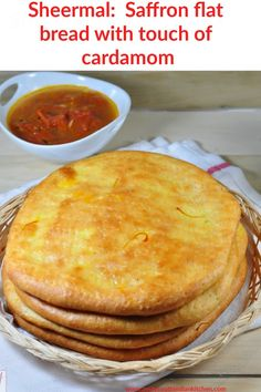 Delicious Sheeral aromatic saffron infused flat bread with touch of cardamom from land of Kashmir.Goes well with cup of tea or coffee. #sheermal #saffronflatbread #zestysouthindiankitchen #flatbread Best Bread Recipe, Quick Bread Recipes, Easy Dinner Recipes, Easy Meals, Dessert Recipes, Easy Recipes, Dinner Ideas, Easy Cooking, Cooking Recipes