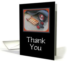 Thank You-Vintage Auto and Wagon-Customizable Card. Thank you customer in New Mexico!