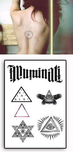 Illuminati Tattoos temporaires