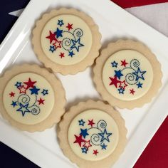 Shortbread cookies with white chocolate fireworks