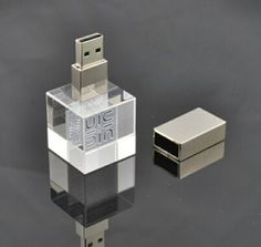 3D Crystal Glass LED USB Flash Drive Unique Memory Disk on Made-in-China.com