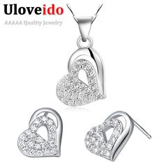 Find More Jewelry Sets Information about Wholesale Women Cheap Austrian Crystal Jewelry Set Silver Wedding Set Earrings Necklaces Pendants Jewelry Costume Ulove T205,High Quality jewelry dress,China jewelry diy Suppliers, Cheap jewelry channel from ULOVE Fashion Jewelry on Aliexpress.com