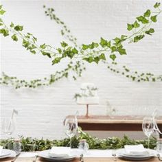 Beautiful Botanics Decorative Vines - by luxury party brand suppliers Ginger Ray. Wedding Set Up, Wedding Gifts For Guests, Boho Wedding, Wedding Reception, Flower Wall Backdrop, Wall Backdrops, Artificial Garland, Large Balloons, Helium Balloons