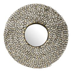 Featuring a chain-link frame, this chic wall mirror is perfect hung above the powder room vanity or adorning an accent wall.     ...