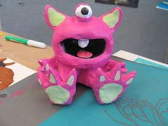 monster project using air dry clay and acrylic paint (two day project)