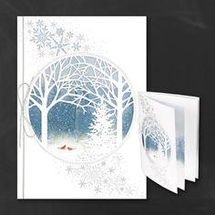 25 Winter Woods Laser Cut Tree Scene Christmas by PineAndBerryShop